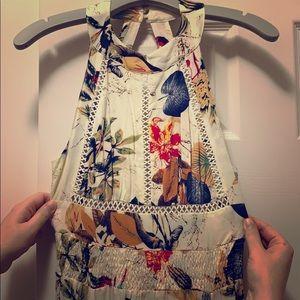 Fashion Nova Floral Halter Maxi Dress